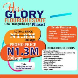 Residential Land for sale His Glory Flourish Estate, Odo Iragunshi Epe Road Epe Lagos