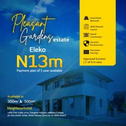 Residential Land for sale Pleasant Gardens, Directly Facing Eleko Road, Close To Amen Estate Eleko Ibeju-Lekki Lagos