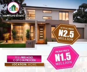 Residential Land Land for sale Opposite Christopher university (beside RCCG Youth church), Lagos-Ibadan Expressway, Mowe. Obafemi Owode Ogun