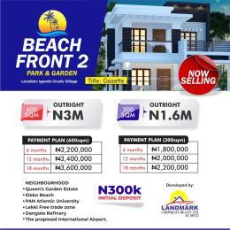 Mixed   Use Land Land for sale 10 minutes from Amen Estate, Facing the proposed coastal road to Victoria Island Eleko Ibeju-Lekki Lagos