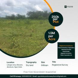 Residential Land for sale Lajogun Village, Mawuko, Via Federal University Of Agriculture, Abeokuta. Mawuko Abeokuta Ogun