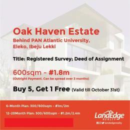 Land for sale Agan Ofiran Town; Eleko (behind Pan Atlantic University) Eleko Ibeju-Lekki Lagos