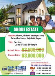 Residential Land Land for sale Elepete via Lekki Epe Express way, Baba- Adisa Epe Road Epe Lagos