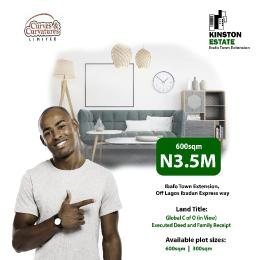 Residential Land Land for sale Kinston Estate Ibafo Obafemi Owode Ogun