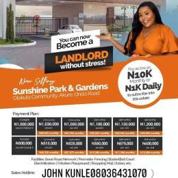 Mixed   Use Land Land for sale Sunshine Park And Gardens , Olokuta Community, Ondo Road, Akure, Ondo State Akure Ondo