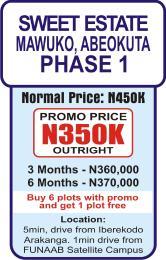 Land for rent Funaab Satellite Campus Area Mawuko Abeokuta Ogun