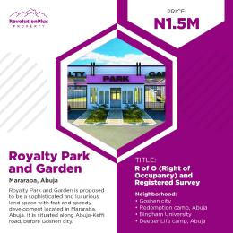 Residential Land Land for sale Keffi Abuja expressway Mararaba Abuja