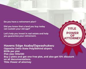 Residential Land Land for sale Ogwashukwu Aniocha South Delta