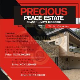Residential Land Land for sale Maya Maya Ikorodu Lagos