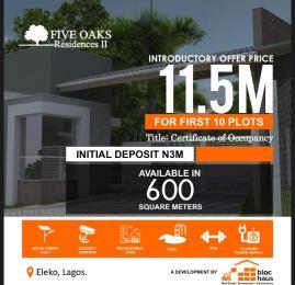 Residential Land for sale Five Oaks Residences Ii, Beside Amen Estate Eleko Ibeju-Lekki Lagos