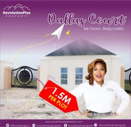 Residential Land for sale Dallas Court, 5 Minutes From Lacampagne Tropicana Ise town Ibeju-Lekki Lagos