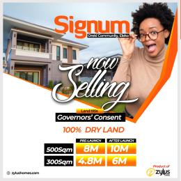 Residential Land for sale Signum Estate, Before Amen Estate Eleko Ibeju-Lekki Lagos