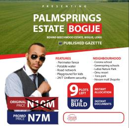 Residential Land Land for sale Palmspring Estate Bogije Sangotedo Lagos