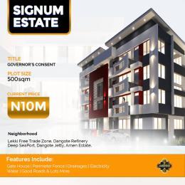 Residential Land Land for sale Signum Estate, Before Eleko Junction, Off Lekki Epe Expressway Eleko Ibeju-Lekki Lagos