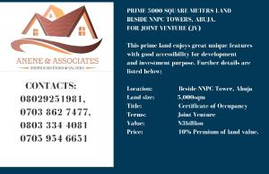 Joint   Venture Land Land for sale Central Area Abuja
