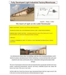 Factory Commercial Property for sale Ibeju-Lekki Lagos