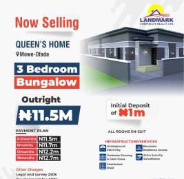 3 bedroom Detached Bungalow for sale 6 Mowe Obafemi Owode Ogun