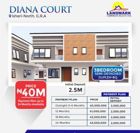 3 bedroom Semi Detached Duplex for sale Diana Court With Bq Isheri North Ojodu Lagos