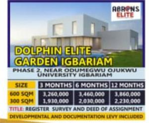 Residential Land Land for sale The estate is located at Dolphin Elite Garden Igbariam Anambra Anambra