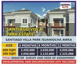 Residential Land Land for sale The estate is located at Santiago Villa Park Isuaniocha Awka Anaocha Anambra