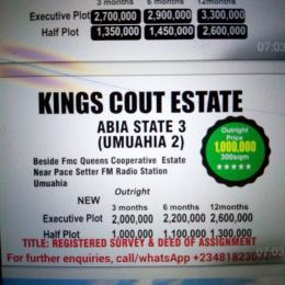 Residential Land Land for sale Besides Fmc Queens cooperative Estate, near Pace Setter FM radio station Umuahia Umuahia South Abia