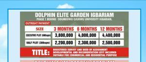 Land for sale IGBARIAM PHASE 1  Oyi Anambra
