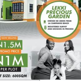 Residential Land Land for sale Akodo ise off igbogun and ise tarred road Akodo Ise Ibeju-Lekki Lagos