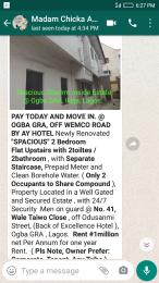 3 bedroom Flat / Apartment for rent Odusanmi street  Ikeja GRA Ikeja Lagos