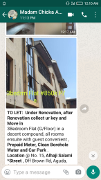 3 bedroom Flat / Apartment for rent Salami  Aguda Surulere Lagos