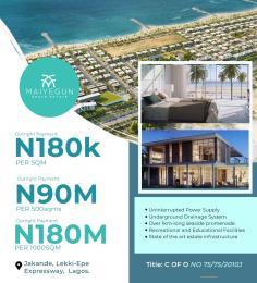 Mixed   Use Land for sale Maiyegun Beach Estate, Jakande, Off Lekki Epe Expressway, Lagos Lagos Island Lagos Island Lagos