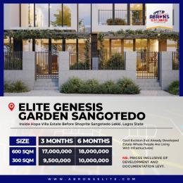 Residential Land Land for sale Elite Genesis Garden phase1 Sangotedo Sangotedo Ajah Lagos