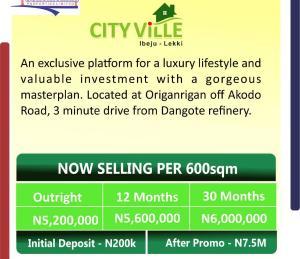 Residential Land for sale Origanrigan Ibeju-Lekki Lagos