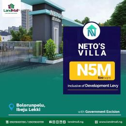 Residential Land for sale Bolorunpelu Ibeju-Lekki Lagos