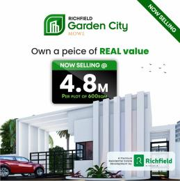 Residential Land for sale 3minutes Drive From The Redemption Camp, Mowe Obafemi Owode Ogun