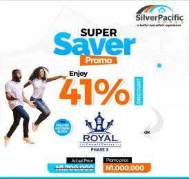 Land for sale Royal County Estate, Folu-Ise Town. Ibeju-Lekki Lagos