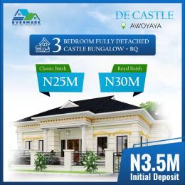 3 bedroom Detached Bungalow House for sale Oribanwa b/stop Awoyaya, 2 mins from Mayfair garden  Orimedu Ibeju-Lekki Lagos