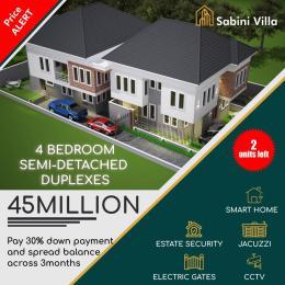 4 bedroom Semi Detached Duplex for sale Sabini Villa, Addo Road, Ado Ajah Lagos