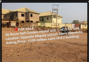 10 bedroom Self Contain Flat / Apartment for sale Opp MAPOLY gate ojere  Ojeere Abeokuta Ogun