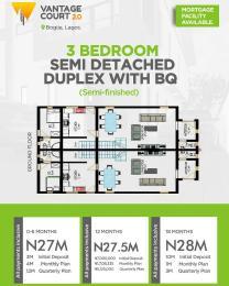 3 bedroom Semi Detached Duplex for sale Bogije, Lekki Lekki Lagos
