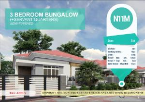 3 bedroom Detached Bungalow House for sale Ibafo, Off Lagos-Ibadan Expressway  Arepo Ogun