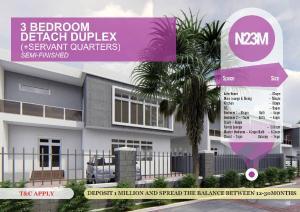 3 bedroom Detached Duplex House for sale Ibafo, Off Lagos Ibadan Expressway Arepo Ogun