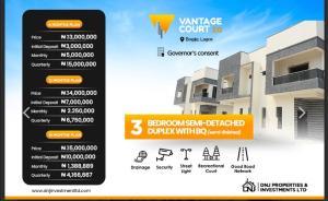3 bedroom Semi Detached Duplex House for sale Vantage Court bogije  Ibeju-Lekki Lagos
