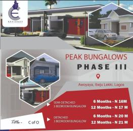 3 bedroom Semi Detached Bungalow House for sale - Awoyaya Ajah Lagos