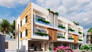 Terraced Duplex House for sale Green Park Scheme, Abijo opposite Corona International School Ibeju-Lekki Lagos