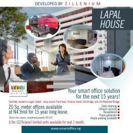 1 bedroom mini flat  Office Space Commercial Property for sale 235 Igbosere Road, Lapal House, Lagos Island. Obalende Lagos Island Lagos