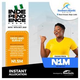 Residential Land for sale Okun Imosan Ibeju-Lekki Lagos