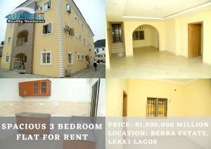 3 bedroom Flat / Apartment for rent Berra Estate chevron Lekki Lagos