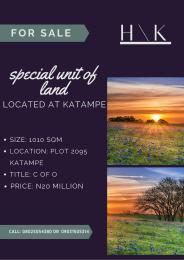 Land for sale Plot 2095 Katampe Main Abuja