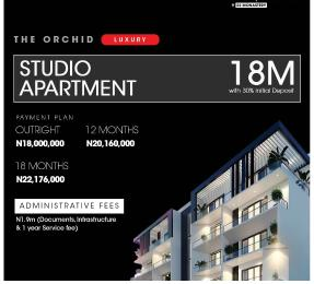 1 bedroom Studio Apartment for sale The Apartment By Monastery Road, Sangotedo. Lekki Lagos