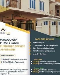 1 bedroom mini flat  Studio Apartment Flat / Apartment for shortlet Magodo gra phase 2 estate near shangisha  Magodo GRA Phase 2 Kosofe/Ikosi Lagos